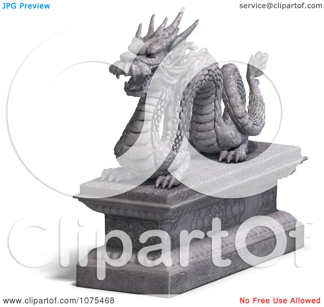 Clipart 3d Stone Dragon Statue 5.