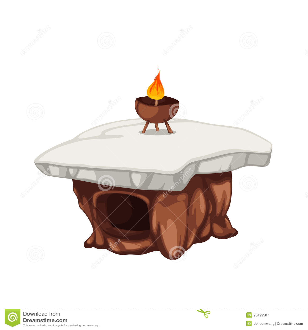Stone table clipart.