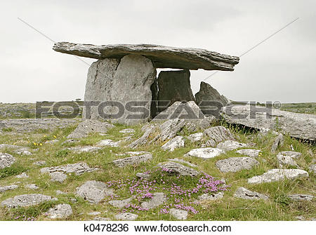 Stock Images of Stone Table With Flowers k0478236.