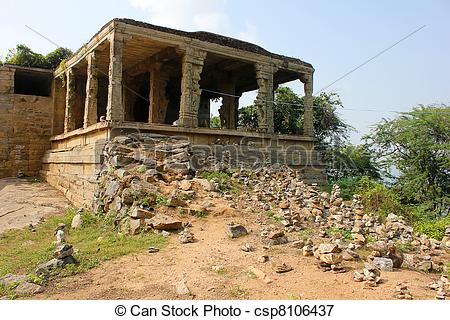 Picture of Traditional Hindu stone temple.