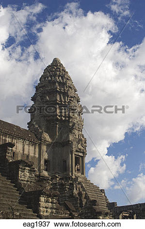 Picture of Stone temple representing one of the five peaks of.