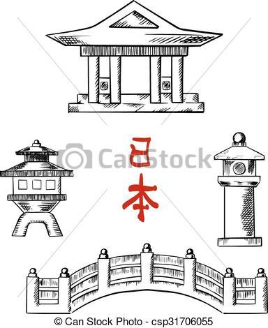 Stone temple clipart #14