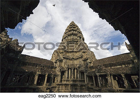 Stock Photography of Stone temple representing the central peak of.