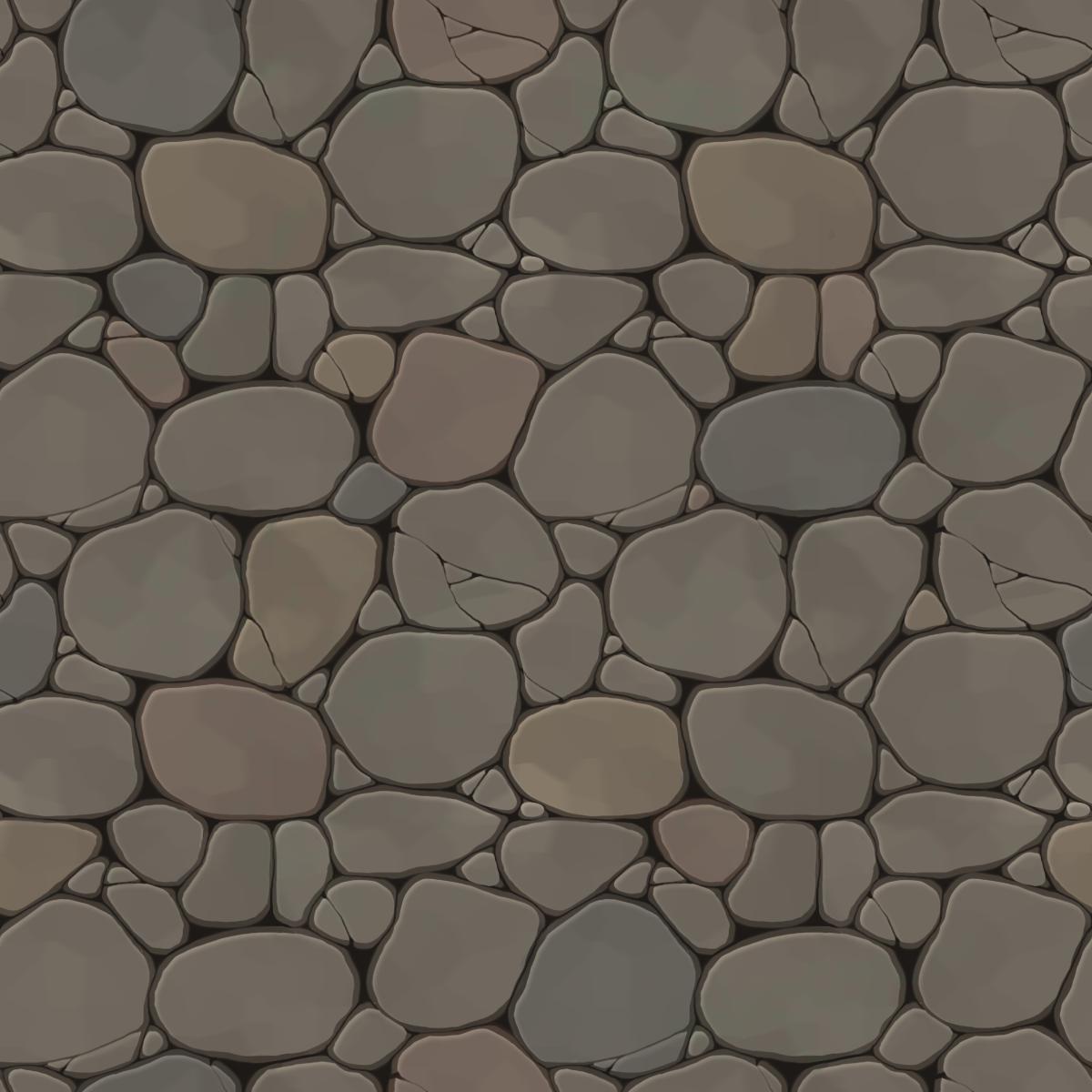 handpainted stone.