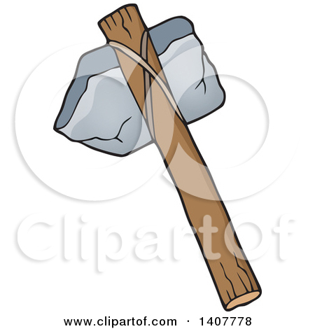Clipart of Black and White Hand Tools.