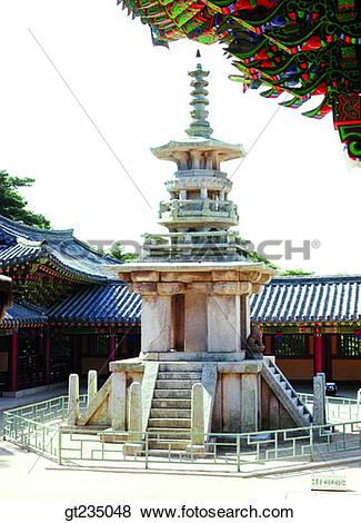 Pictures of Dabo tower, Dabotap, pagoda, stone pagoda, stone tower.