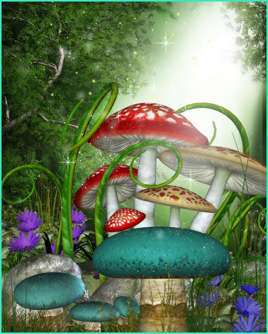 PSP tube download. Mushroom tubes, prop tubes, fairy mushroom.