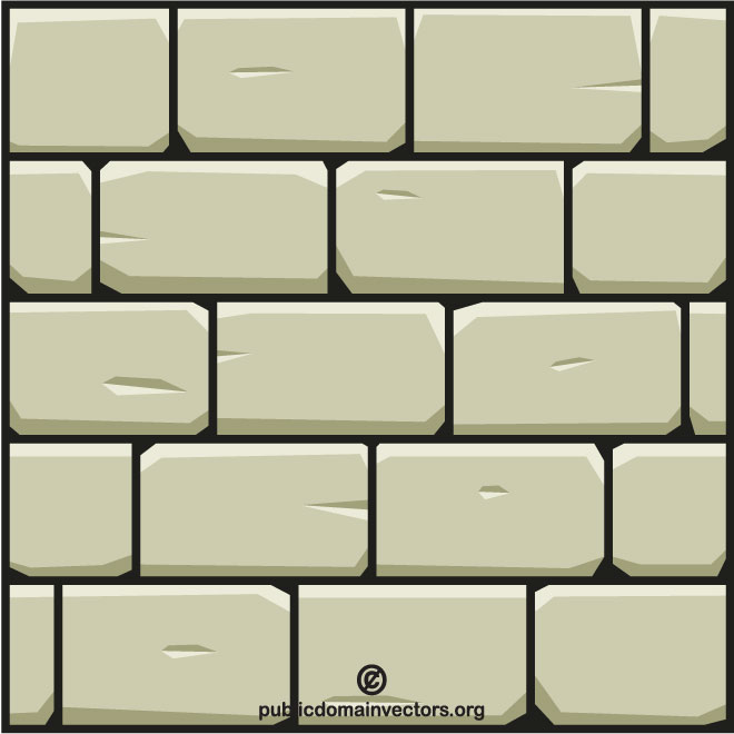 Wall stone vector clip art.