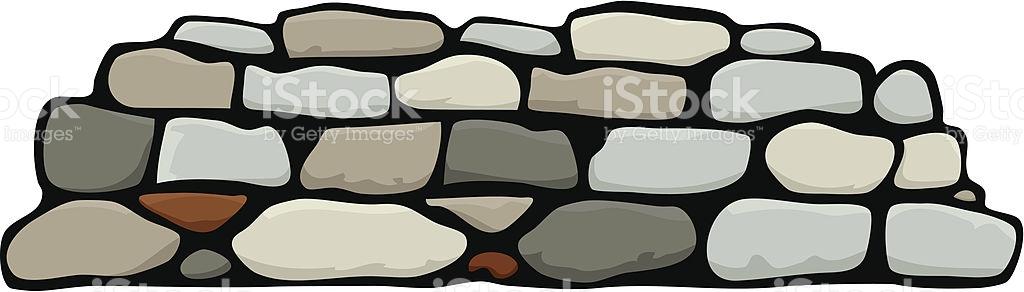 Cartoon Animation Of Stacked Stone Wall stock vector art 136283498.