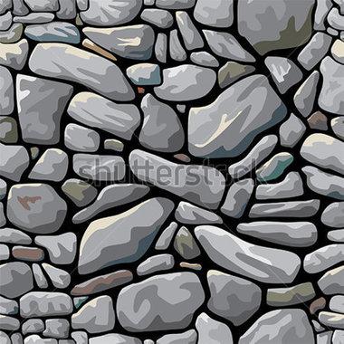 Stone Wall Pattern Clipart.