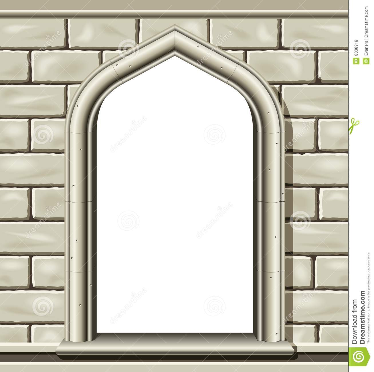 Arched Window, Stone Royalty Free Stock Photos.