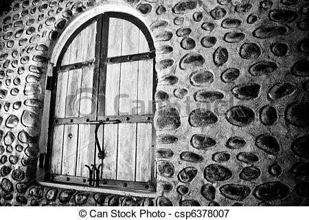Picture of Old stone wall and window.