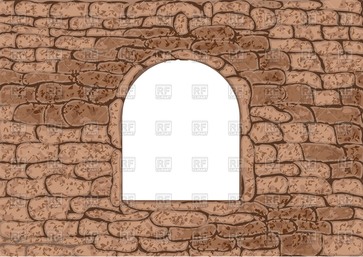 Window in stone wall Vector Image #94060.