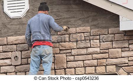 Stock Image of Stone Mason 1.