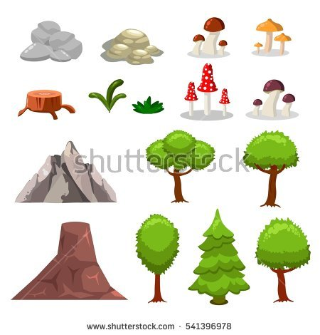 """""""isolated_vector_tree_brunch"""" Stock Photos, Royalty."""
