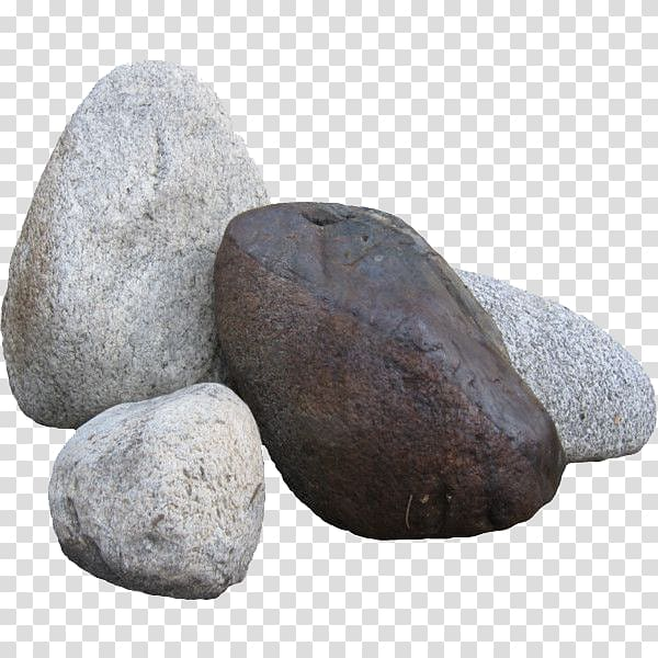 One brown and three gray stones , Rock Computer Icons.