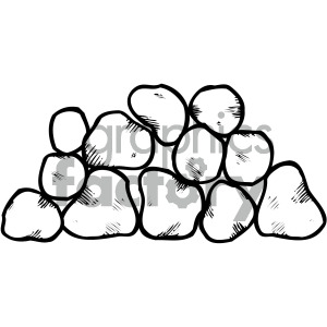 black white stone clipart . Royalty.