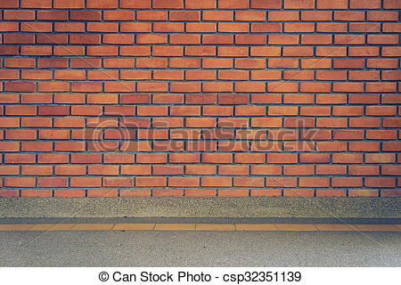 Stock Photos of brick wall texture background and small gravel.