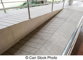 Stock Images of ramp way for support wheelchair disabled people.