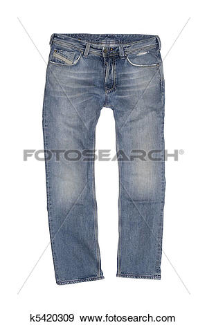Stock Photograph of Vintage Stone Washed Jeans k5420309.