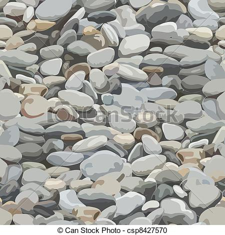 Vector Clipart of River Stone Background.
