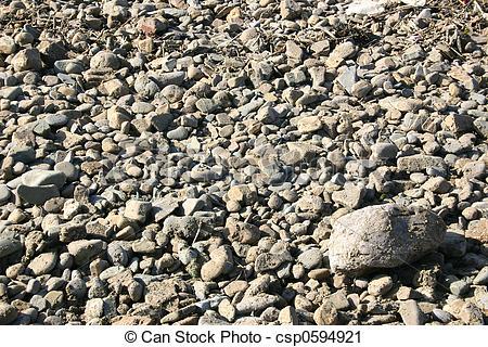Stock Photography of stoney beach.