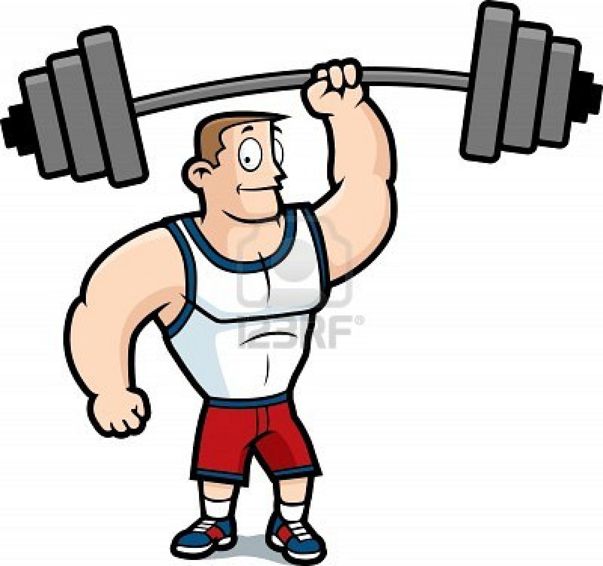 Strong Man Weak Man Clipart.