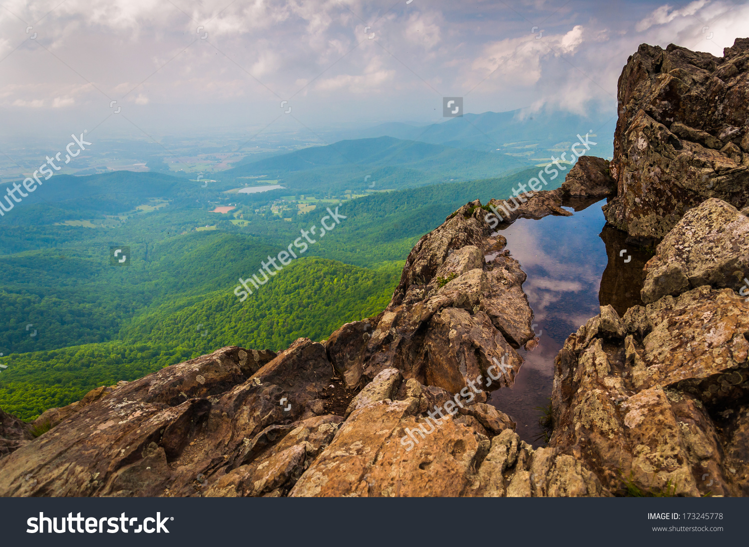 View Shenandoah Valley Cliffs On Little Stock Photo 173245778.
