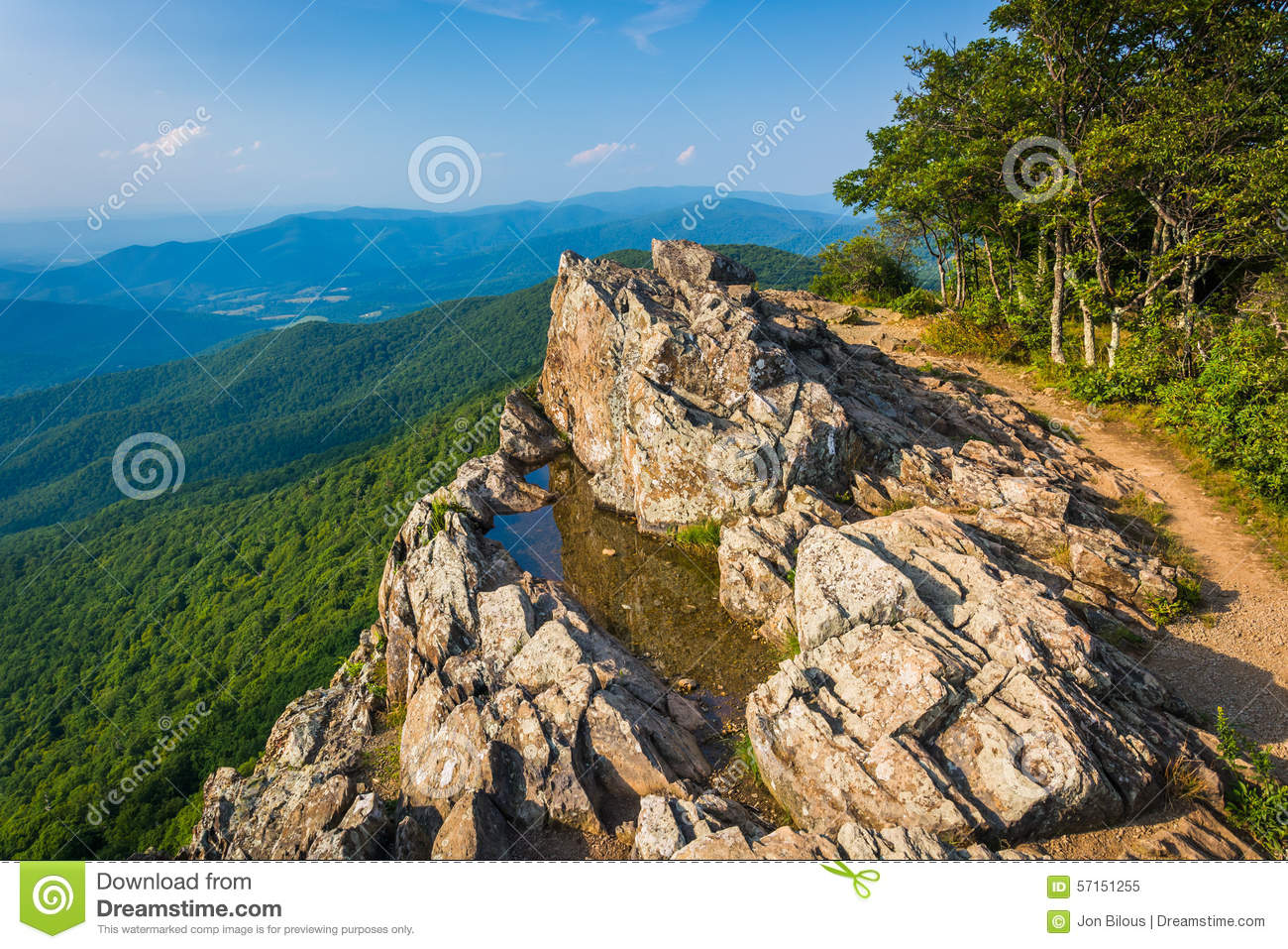View Of The Blue Ridge Mountains From Little Stony Man Cliffs In.