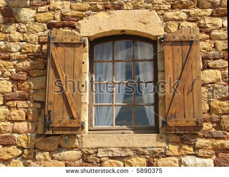 Wood Shutters Stock Photos, Royalty.