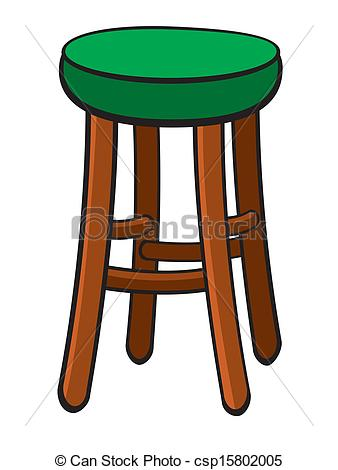 Bar stool clipart.