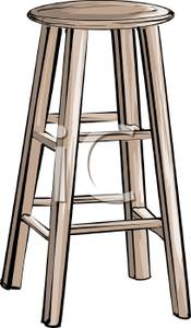 Clipart Images Of Wooden Stools.