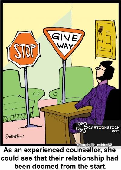 Give Way Sign Cartoons and Comics.