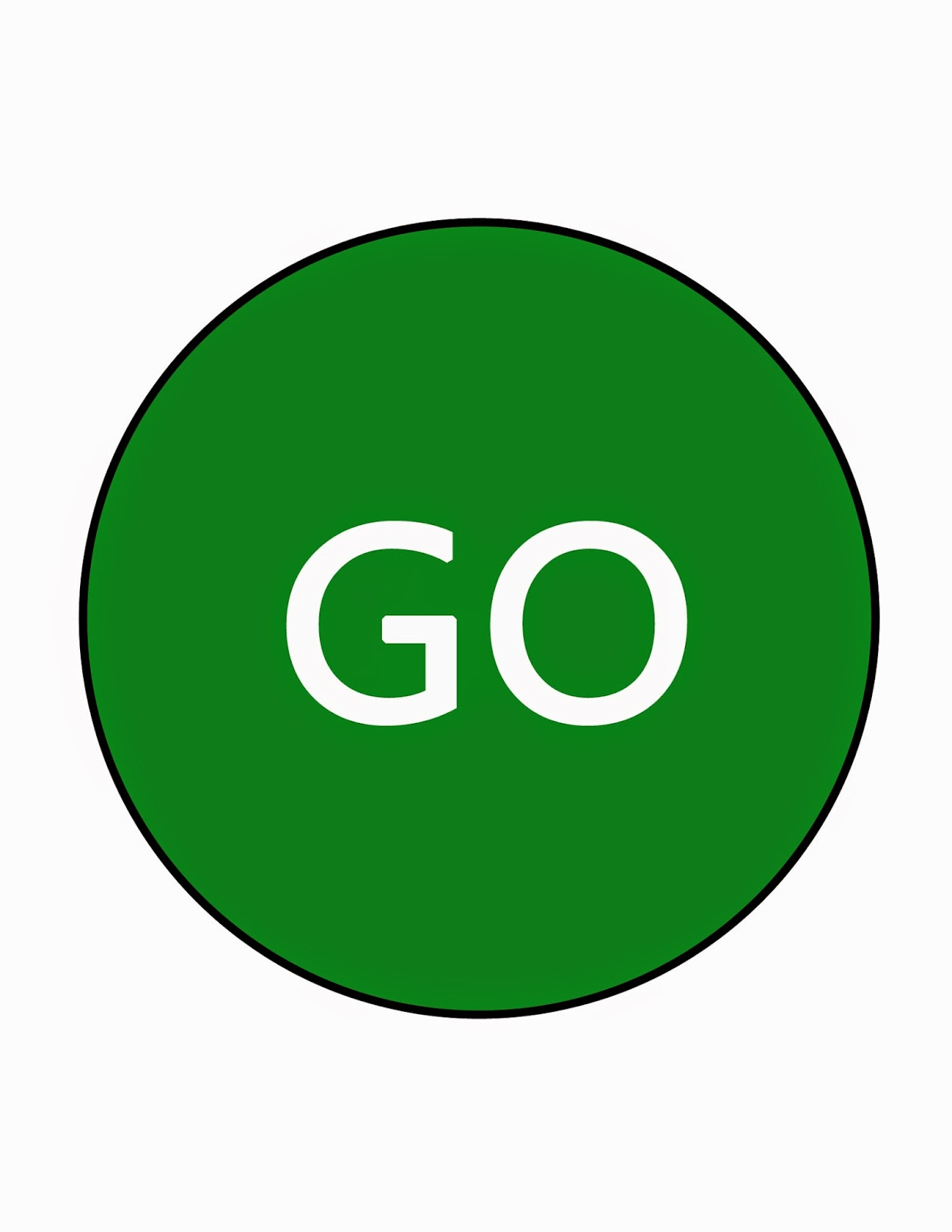 Printable Stop And Go Sign.