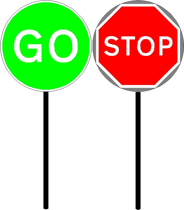 Stop And Go Signs Clipart Panda Free Clipart Images #0kDx1T.
