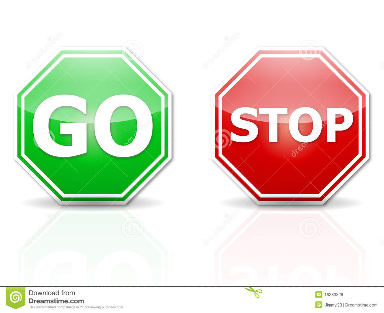 Stop And Go Royalty Free Stock Images.