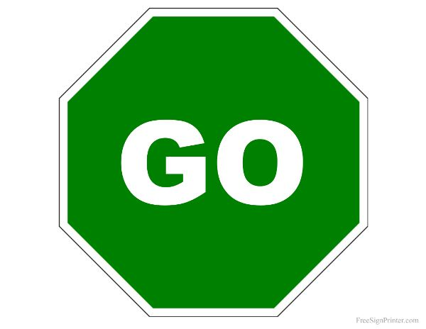 Shining Stop And Go Signs Printable Stunning FREE Sign.