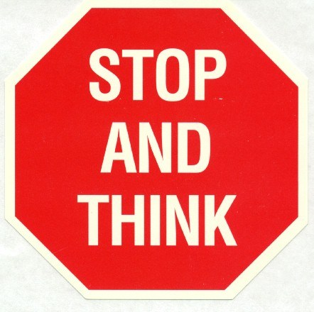 Stop and think clipart 7 » Clipart Portal.