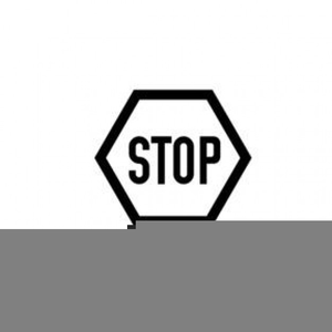 Clipart Stop Sign Black White.