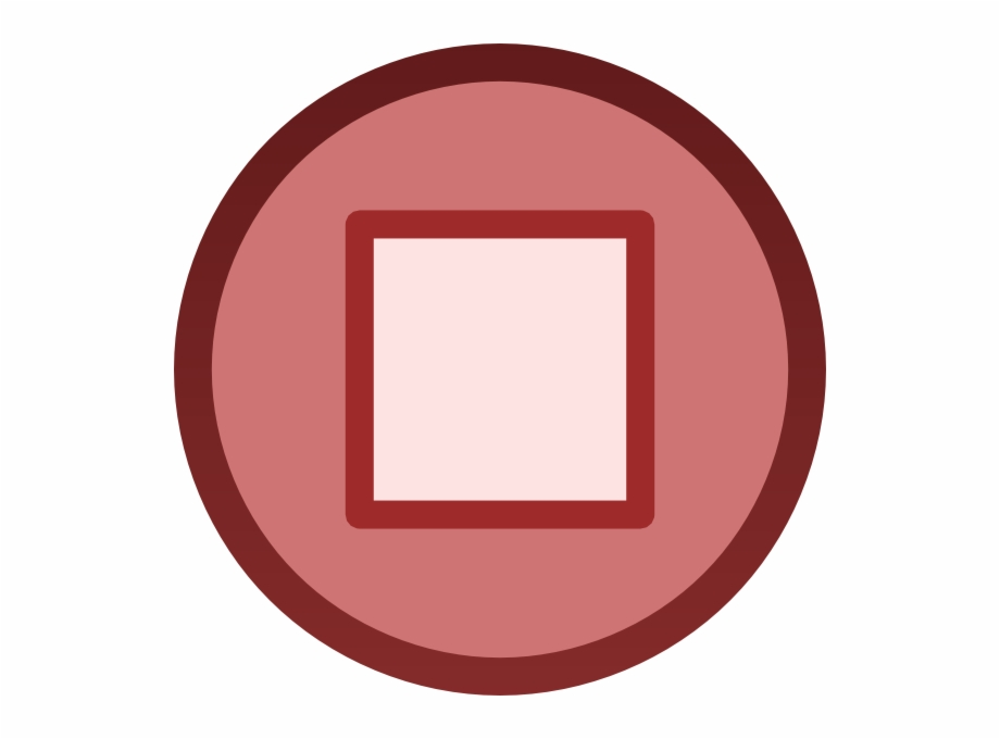 Red Stop Button Plain Icon Png Clip Art.