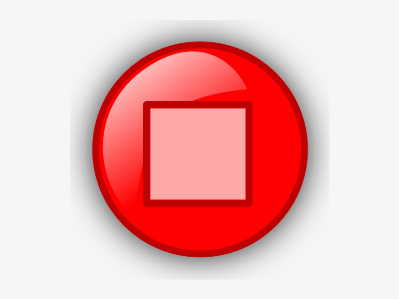 Pause Button Clipart Red.