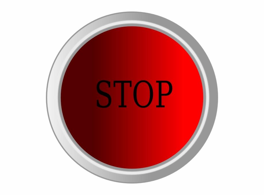 Stop Button Clip Art.