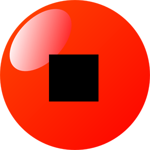 Stop Button Red PNG, SVG Clip art for Web.