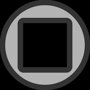 Stop Button PNG, SVG Clip art for Web.
