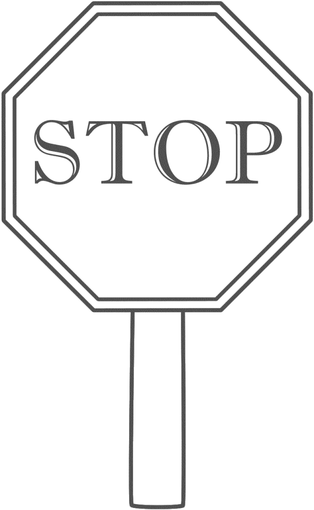 Stop sign black and white cliparts.