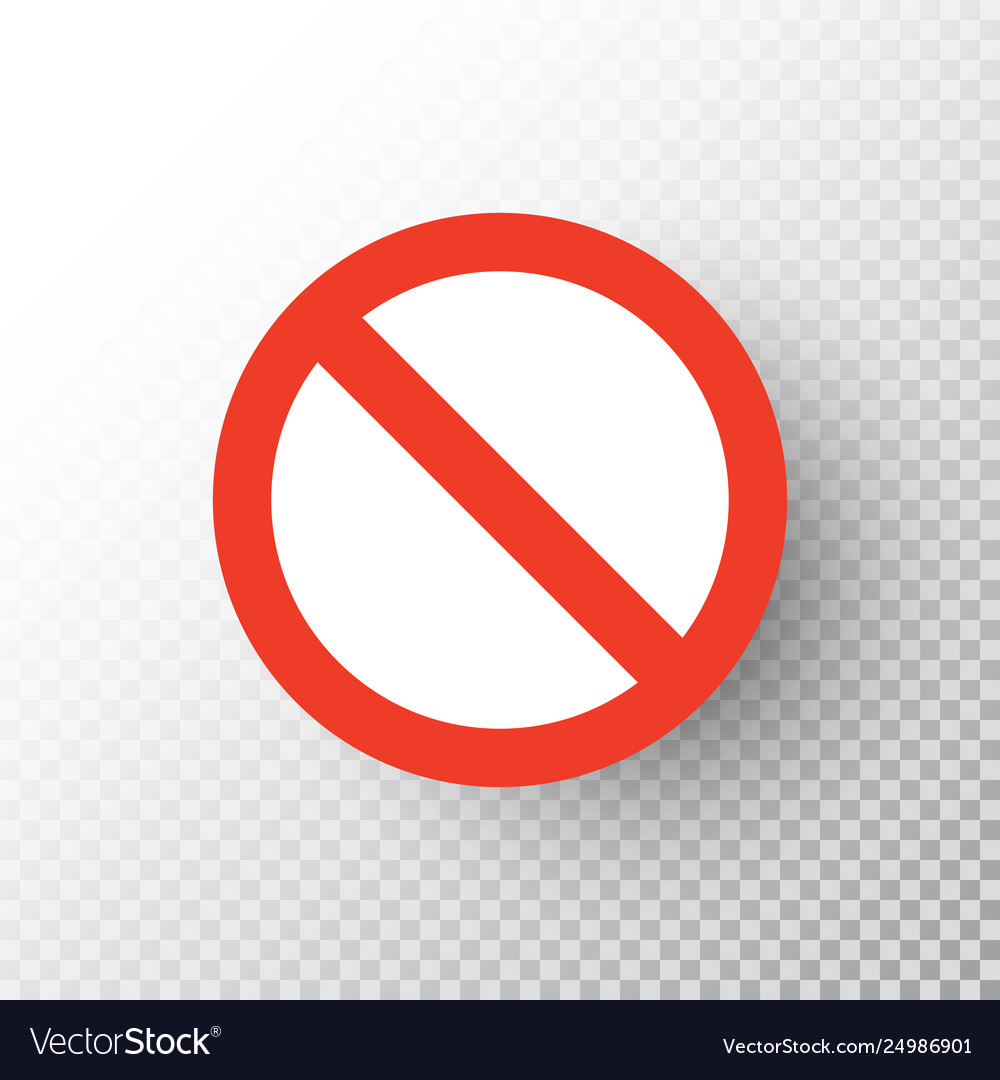 Stop sign isolated on transparent background red.