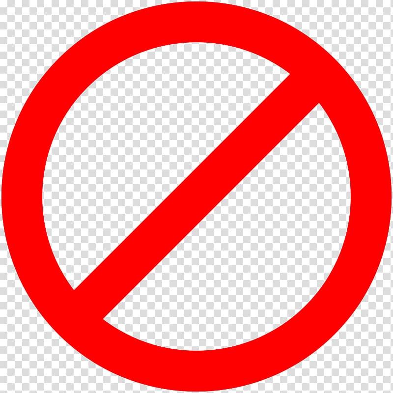 No symbol Sign , sign stop transparent background PNG.