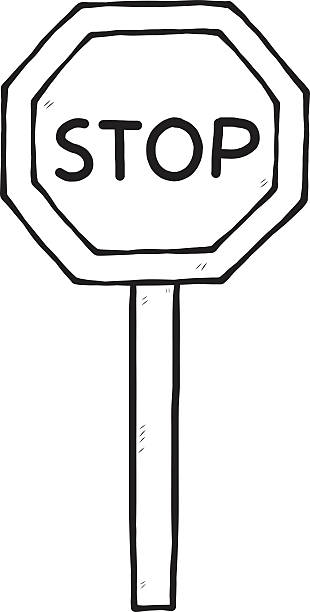 Stop sign clipart black and white 3 » Clipart Station.