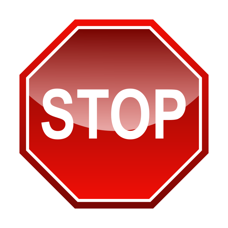Free Clipart: Stop signal.