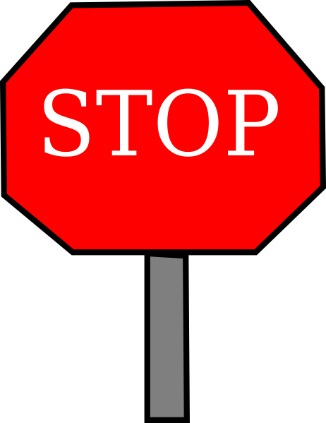 Stop sign clipart vector graphics stop clip art 3 image.